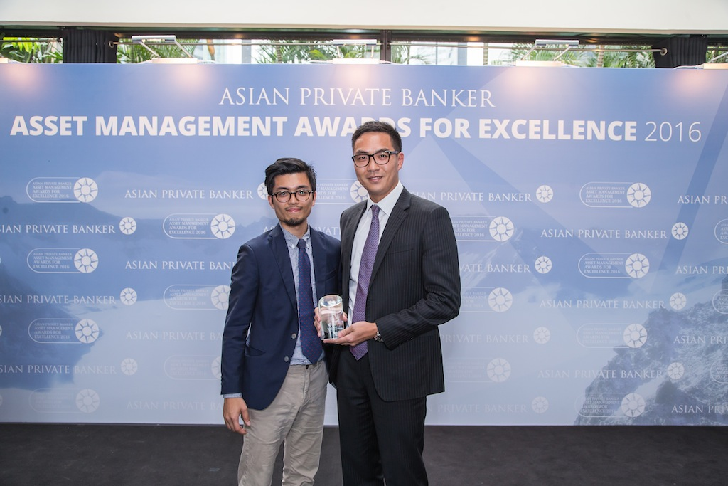 Ronald Liu from Fidelity International receives the award for Best Fund Provider - Global Equity