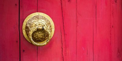 China, door, wealth, red
