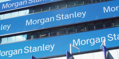 Morgan Stanley horizontal digital signage