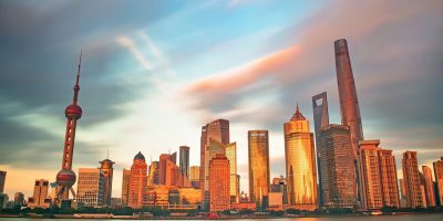 Shanghai, China, twilight, Pudong