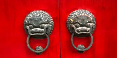 China red lion gate