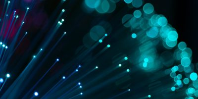 fiber optic tech digital blue cyan