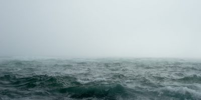 storm rough seas fog
